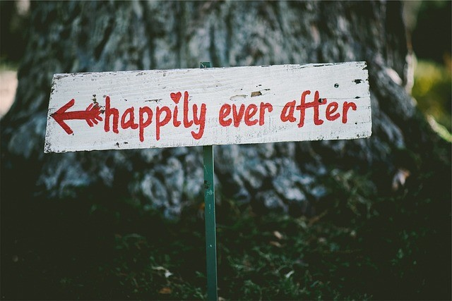 Happily Ever After Wedding Sign - Writing Your Own Marriage Vows