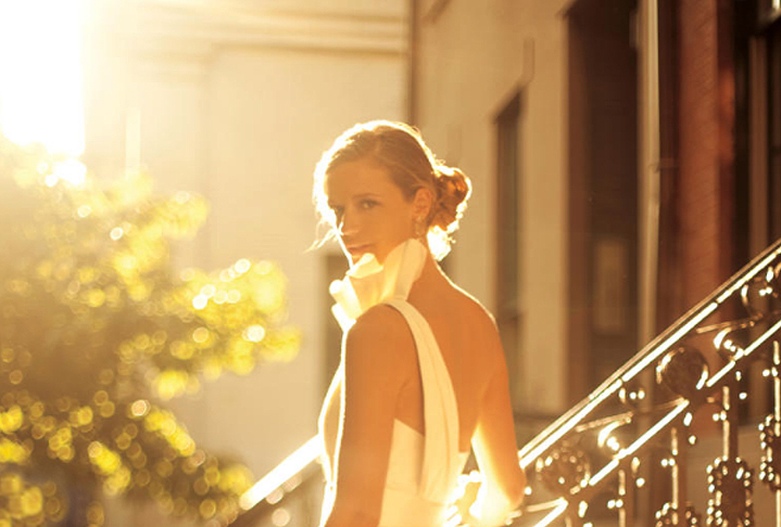 Bridal Portrait With Backlighting