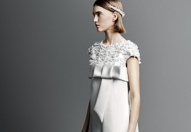 Mod Wedding Dresses From 2019-20 Bridal Shows - Viktor and Rolf Model Wearing Mod Inspired Gown
